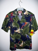 Hawaiian Aloha Blue Tropical Shirt