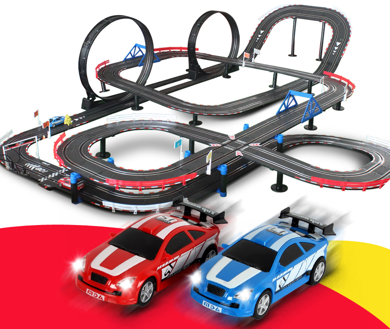 series tr06 143 scale slot car racing set 135 meters slot track 360 degree loop overpass 45 degree slope