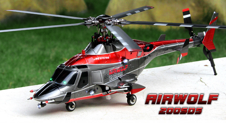 Walkera RC Helicopter Airwolf 200SD5 5 Blades Brushless ...