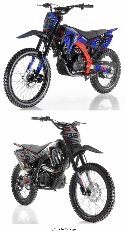 APOLLO 250cc 4-SPEED DELUXE DIRT BIKE  AGB-36 FAST FREE SHIPPING