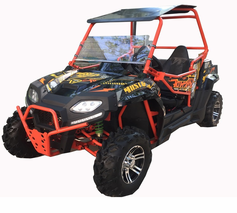 Kymoto Avenger 150 UTV -  Calif Legal- For Adults & Kids, AutoMatic+Reverse, w/ Windshield
