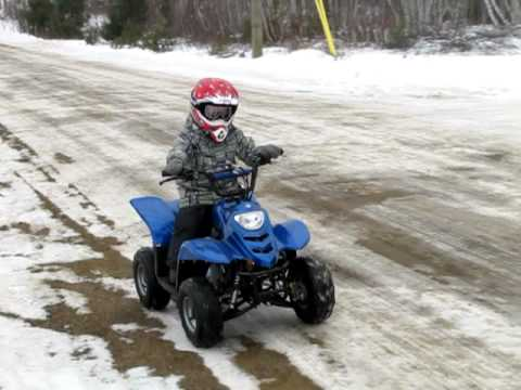 COOLSTER 3050c 110cc Youth Quad/ATV with Rack!   Fully