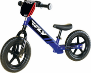 Fly Racing Deluxe Strider Youth Training Bike - Number Plate - Frame-integrated Footrests - Sport Wheels - Flat Proof Tires - Easy Height Adjustment  -