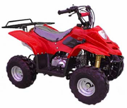 KYMOTO Series Youth 110cc ATV Solid and Spider Colors - With Rear Rack - Fast Free Shipping - FREE Goggles & Gloves! Auto-Trans - Remote Kill Switch