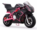Kicker Electric Pocket Bike - Deluxe Model - 500-watt 36-volt - Super Quiet Ride -