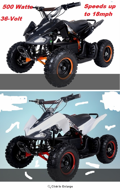 Kicker Elite Fully Electric ATV / Quad - 500-Watt - 36 Volt - Speeds to 18mph