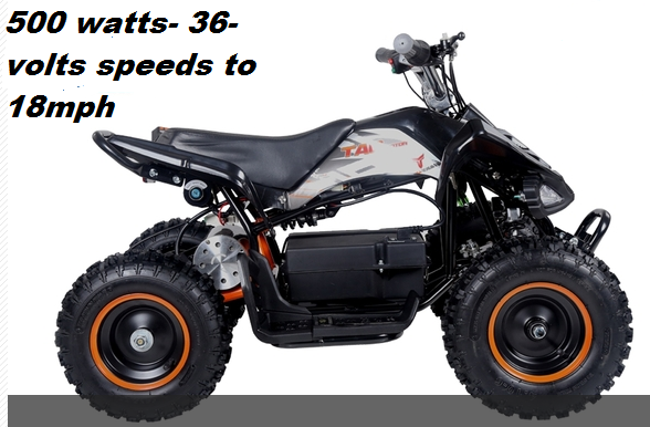 Dirt Bike Battery >> Kicker Youth Electric Atv Quad- 36-Volt - 500 Watt Battery ...