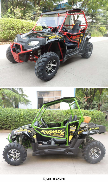 Kymoto Max 170 UTV  - NEW Larger Model with Windshield -