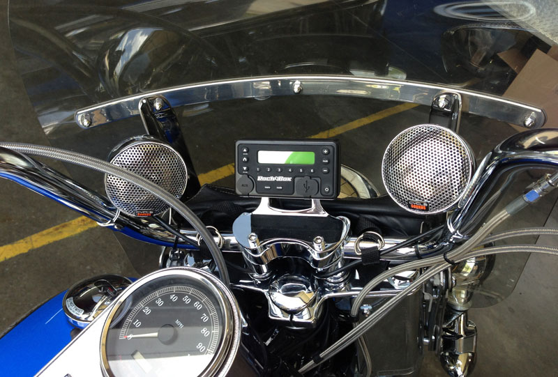 Rock Box™ All-in-One Audio Source for Harley-Davidsons - Motobuys com