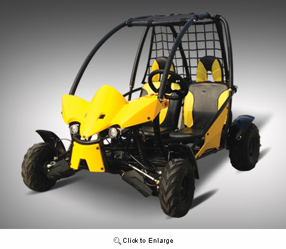 Scorpion XL Ultra Youth 125-Series Go Kart - Longer Body with Wider Stance - Ugraded Suspension - Custom Body