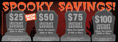 SPOOKY SAVINGS COUPON SALE
