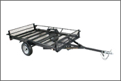Star II Utility Trailer- 2 Quad ATV or Cargo Model with Side Ramps - FREE SHIPPING - Motobuys