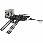 Star Unistar Extra Wide UTV / ATV Trailer with Side & Ramp Loader - 9' Deck - FREE SHIPPING