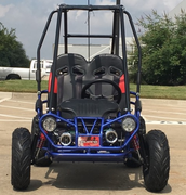 Trailmaster NEW Ultra Mini XRX/R+ Go Kart with Reverse - Wider Frame, Wider Seats, More Leg & Headroom, Much Taller Roll Cage, Bigger Tires!