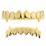 Gold 8/8 Fang Grillz Set