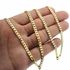 "Cuban Chain 24"" Gold Plated 4MM"
