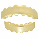 14k Gold Plated Bar Grillz Set