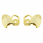 14k Gold Plated Double Fang Set