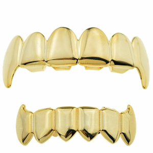 14k Gold Plated Full Fangs Set