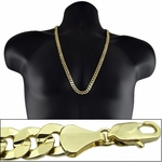 "Gold 30"" x10MM Cuban Curb Chain"