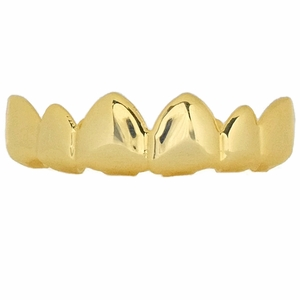 Gold Pointy Upper Grillz