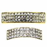 Gold 3-Row VIP Grillz Set