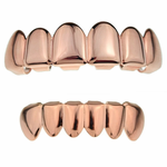 Rose Gold Plated Grillz Set