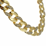"30"" x 15MM Gold Plated Cuban Chain"