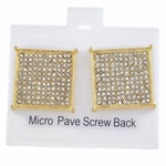 Square Gold 20MM Screw Earrings