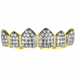18k Gold Plate 2-Tone Top Grillz