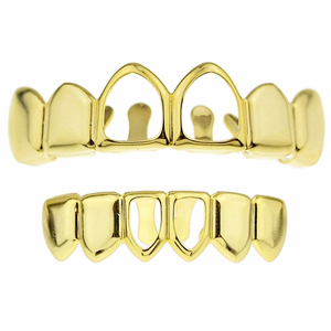 Gold 2 Open Face Grillz Set