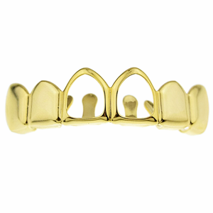Gold 2 Open Upper Grillz