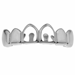 Silver 2 Open Upper Grillz