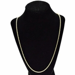 3 mm Gold Plated Rope Chain 24""