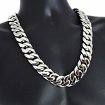 "Silver S.Steel Chain 28"" x 25MM"