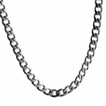 "4 mm 30"" Cuban Link Steel Chain"