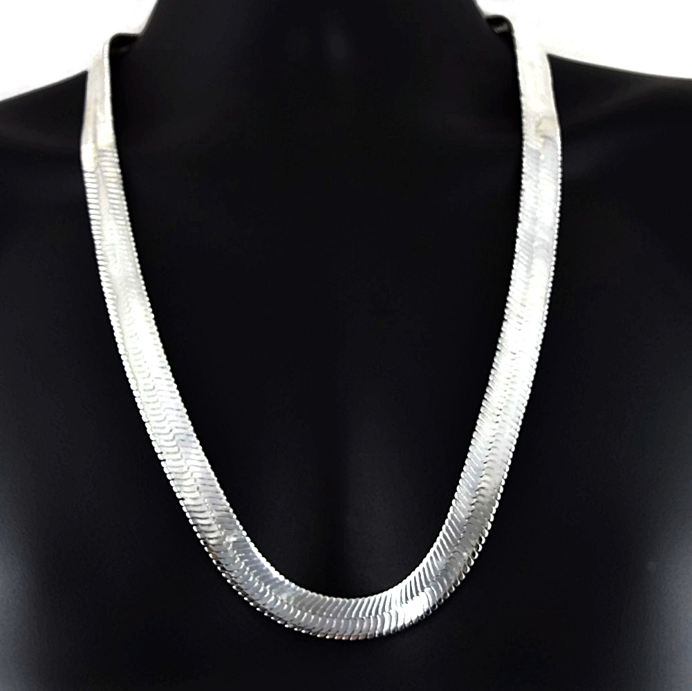 30quot 14mm silver herringbone herringbone chain