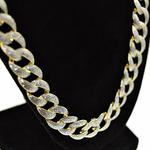"30"" x 13MM Glitter Gold Chain"