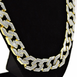 "30"" x 15MM Glitter Gold Chain"