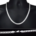"Miami Cuban Silver Chain 24"" 8MM"