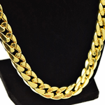 "33"" x 13MM Gold Cuban Chain"