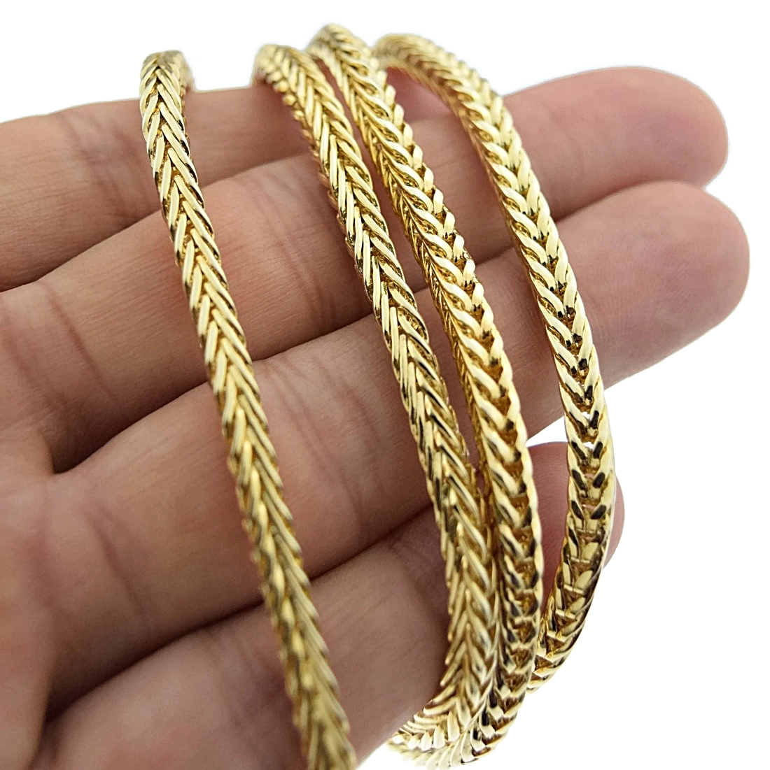 36 Quot Gold Finish Franco Chain Franco Chains