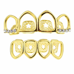 Gold 4 Full Open Grillz Set