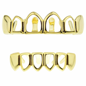 Gold 4 Open Face Grillz Set