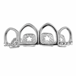 Silver Open 4 Top Grillz