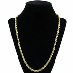 5 mm Gold Plated Rope Chain 24""