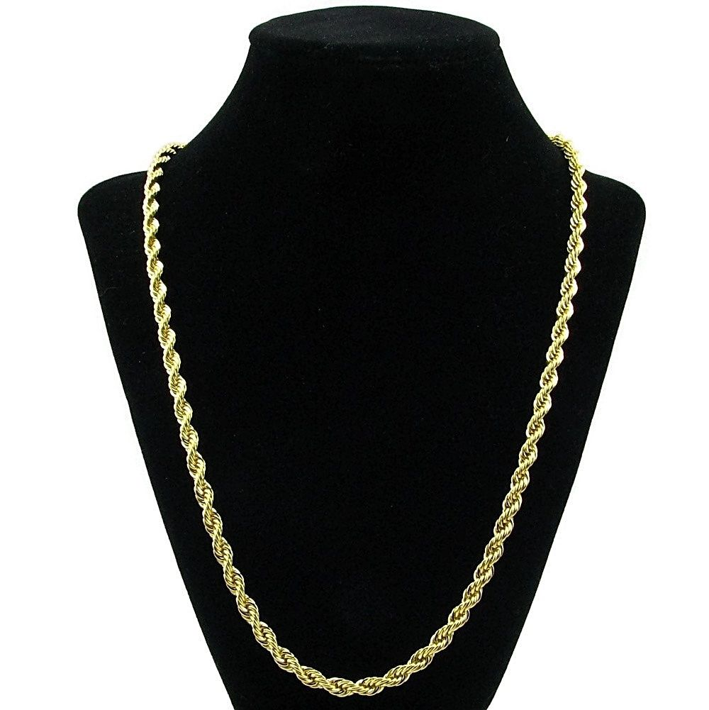 5 mm gold plated rope chain 24 rope chains 5 mm gold plated rope chain 24 sciox Gallery