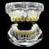 Gold 6 Open Upper Grillz