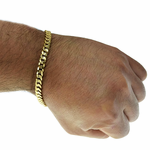 6mm Curb Bracelet Gold Plate 9""