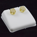Round Gold Plated 7MM Earrings
